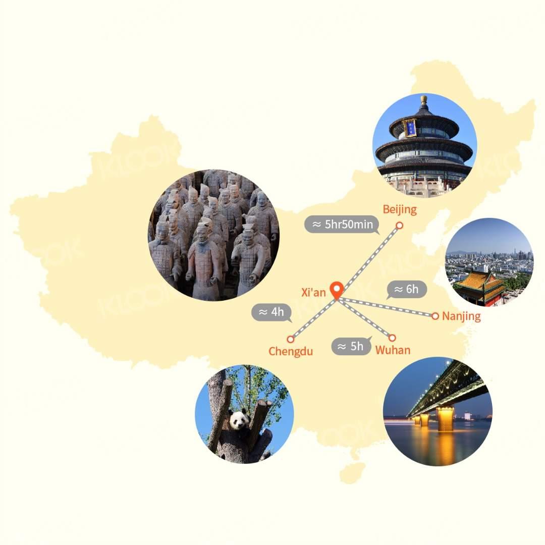 from xian to beijing, wuhan, nanjing, and chengdu